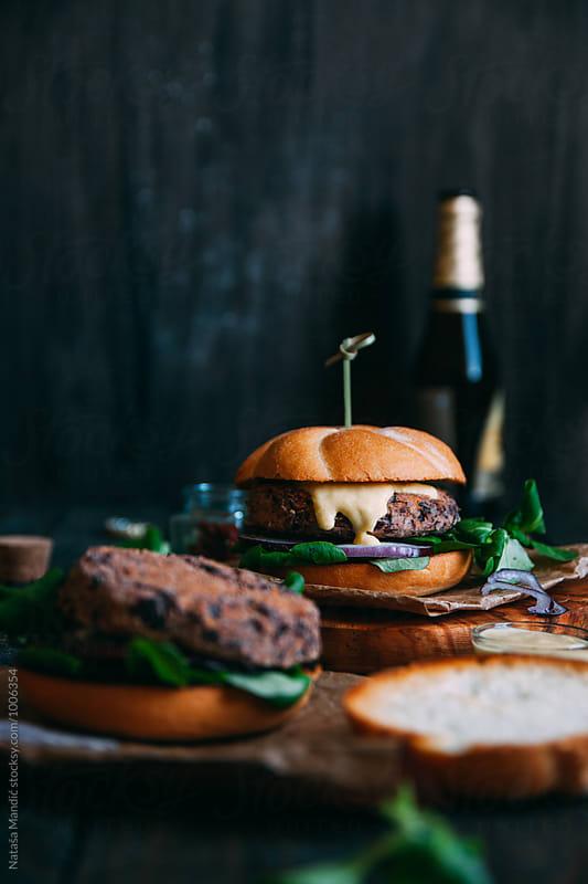 Veggie burger  by Nataša Mandić for Stocksy United