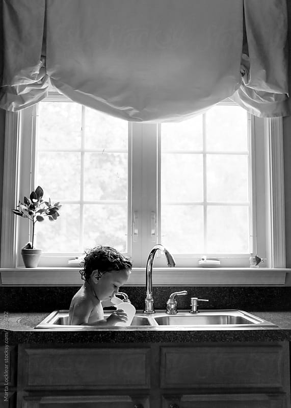Toddler Sink Bath by Marta Locklear for Stocksy United