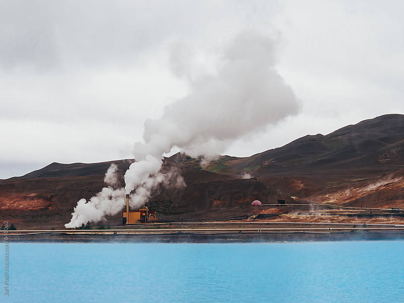 steam power plant in Myvatn, Iceland by Juri Pozzi for Stocksy United