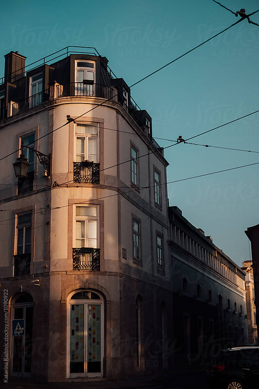 Old Building in Lisbon, Portugal in Sunset by Katarina Radovic for Stocksy United