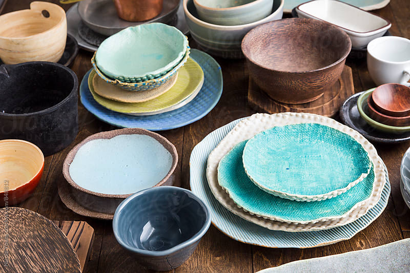 Bowls and Plates by Nicole Young for Stocksy United