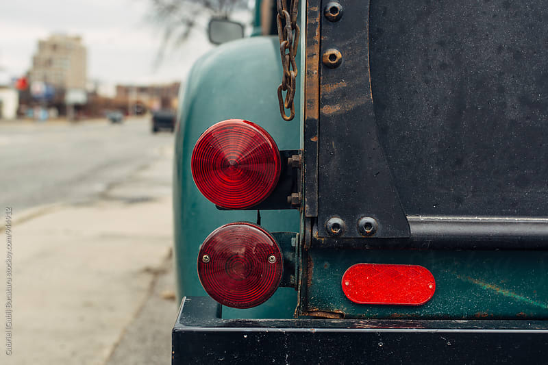 Stoplights on a vintage truck by Gabriel (Gabi) Bucataru for Stocksy United