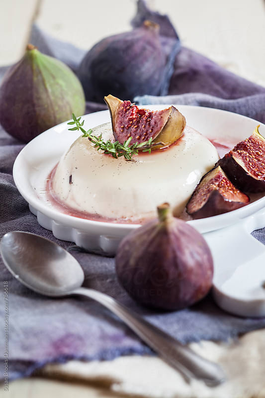 Coconut-cream Panna-Cotta by Susan Brooks-Dammann for Stocksy United