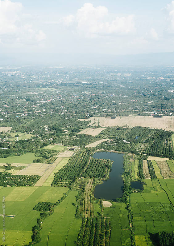 Aerial view of Chiang Mai, Thailand by Alita Ong for Stocksy United