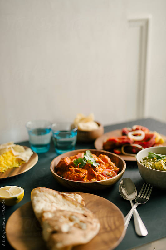 Indian food for lunch by Alita Ong for Stocksy United