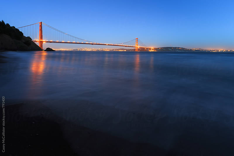 Blue Hour Golden Gate Bridge by Casey McCallister for Stocksy United