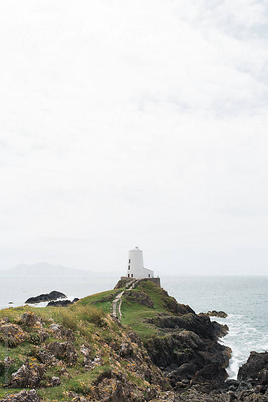 lighthouse in Wales by Léa Jones for Stocksy United