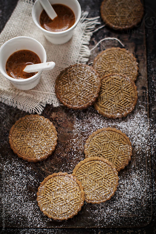 Shortbread cookies with hemp seeds flour by Federica Di Marcello for Stocksy United