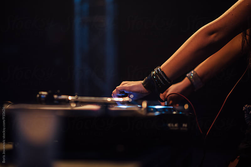 DJ at the club by Boris Jovanovic for Stocksy United