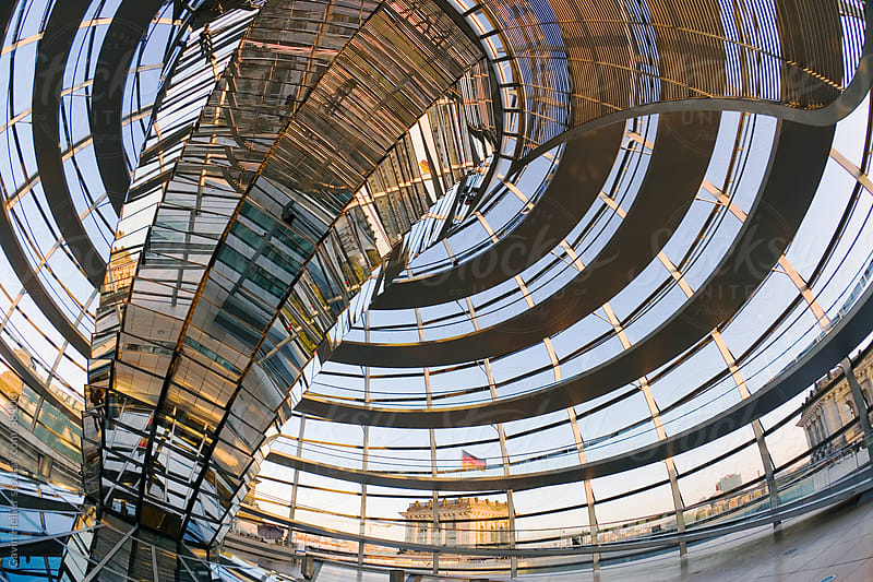 Interior of Reichstag Parliament building, Berlin, Germany Europe by Gavin Hellier for Stocksy United