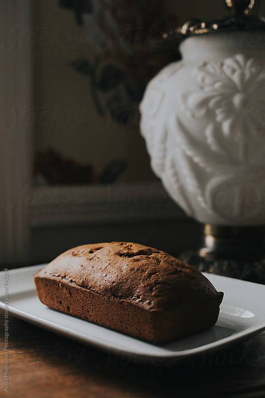 Pumpkin Bread on Table by Alicia Magnuson Photography for Stocksy United