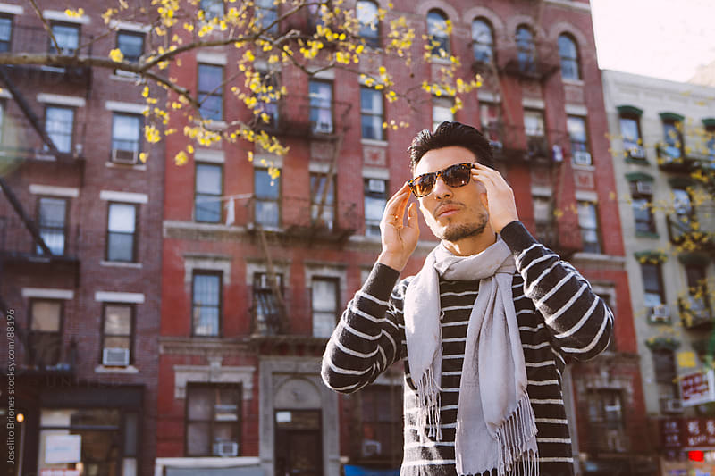Casual Young Man on a Sunny Day in New York by Joselito Briones for Stocksy United