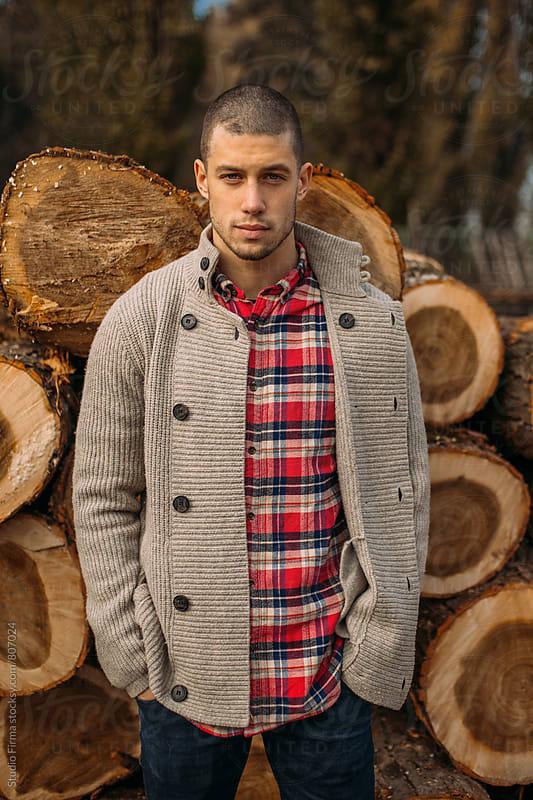 Lumberjack Taking a Break by Studio Firma for Stocksy United