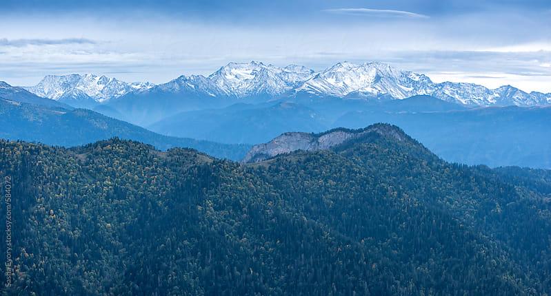 Caucasus mountain range by Sasha Evory for Stocksy United