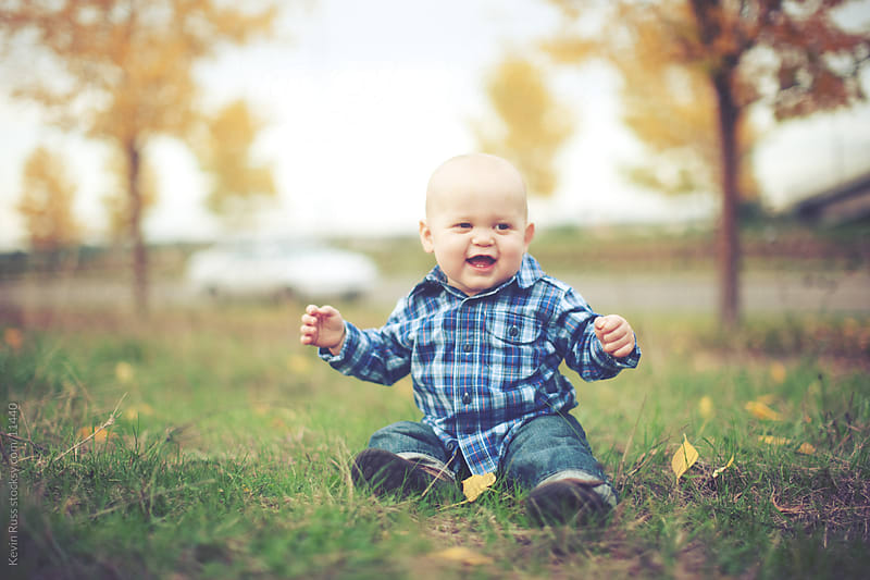 Happy Fall Toddler by Kevin Russ for Stocksy United