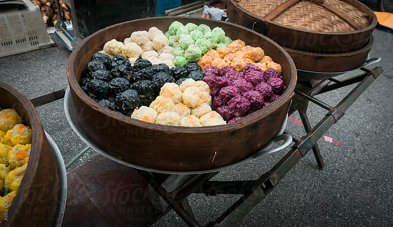 Shumai being sold on the street by Alita Ong for Stocksy United