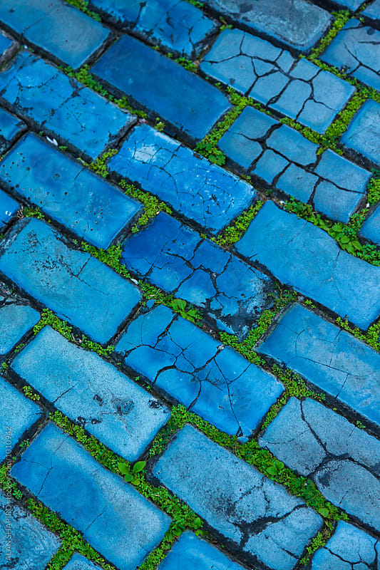 blue cobblestone by alan shapiro for Stocksy United