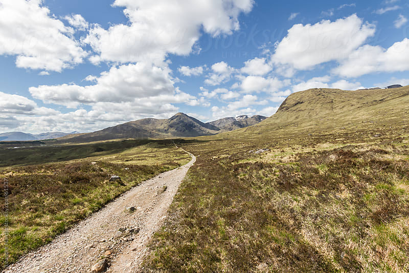 path through the scottish highlands by Leander Nardin for Stocksy United