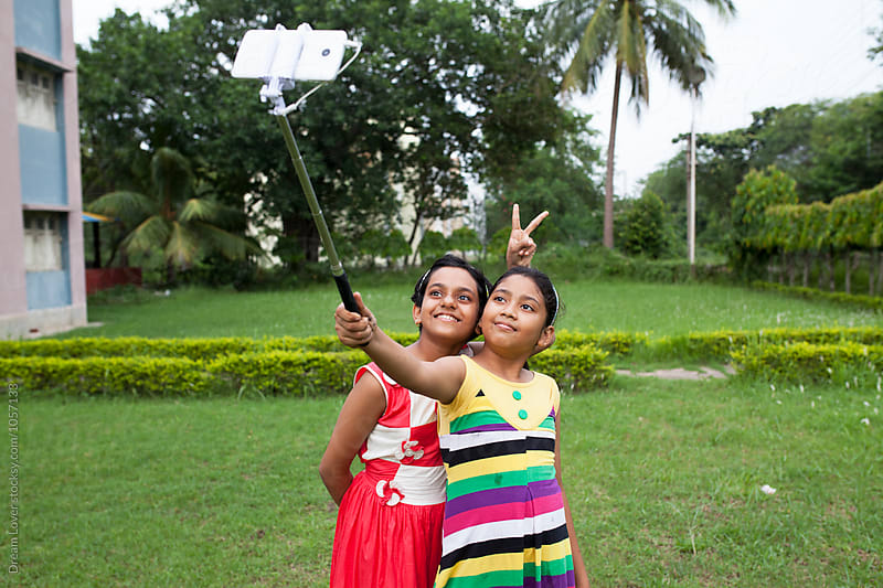 Teenages making fun in outdoor by PARTHA PAL for Stocksy United
