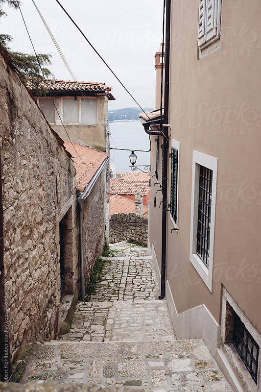 Stone stairs in Rovinj by Robert Kohlhuber for Stocksy United
