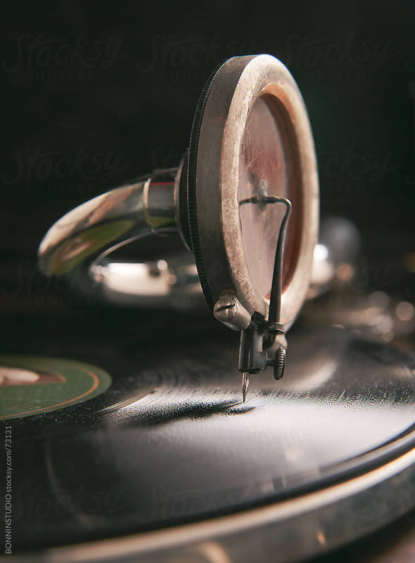 Close up of a old gramophone. by BONNINSTUDIO for Stocksy United