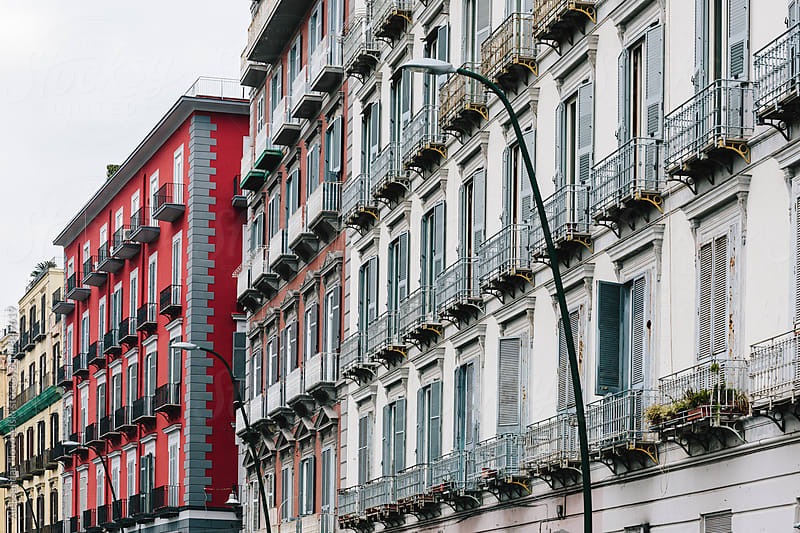 Buildings in Naples, Italy by Aleksandar Novoselski for Stocksy United