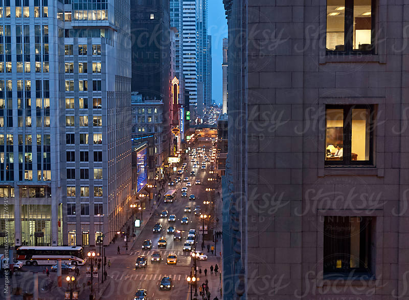 rush hour in Chicago by Margaret Vincent for Stocksy United