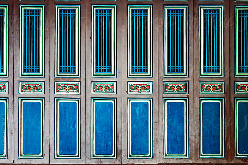 Series doors and windows of old Chinese house by Lawren Lu for Stocksy United