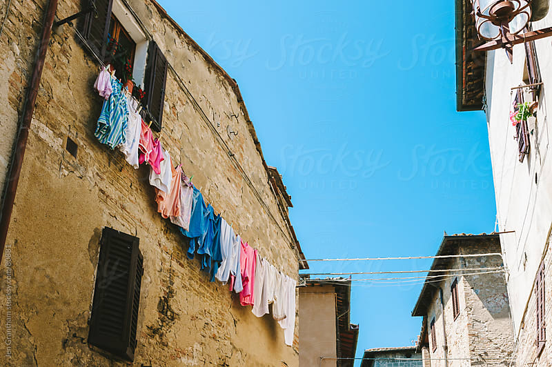 Clothes hanging to dry by Jen Grantham for Stocksy United