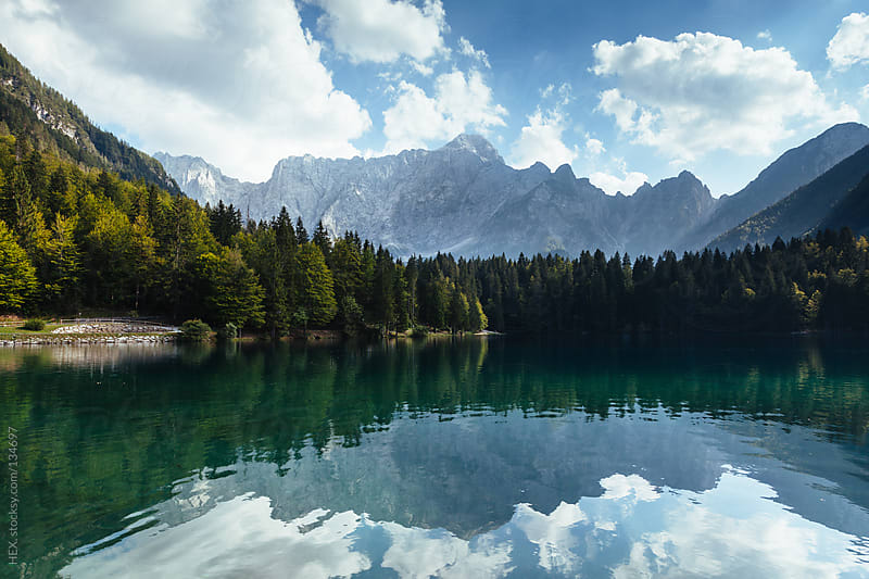 Fusine Lake . Italy by HEX. for Stocksy United