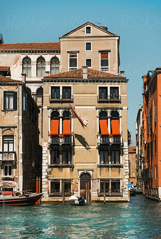Classic old Venetian style house/building at Grand Canal/Venice.Italy by Audrey Shtecinjo for Stocksy United