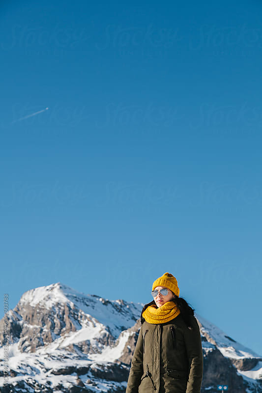 Woman Enjoying a Sunny Winter Day by VICTOR TORRES for Stocksy United