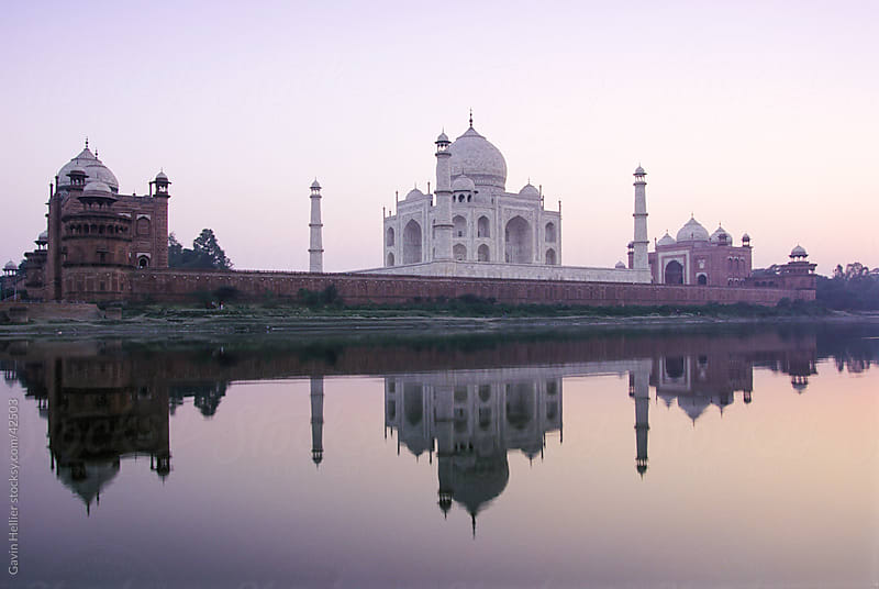 Taj Mahal, UNESCO World Heritage Site, Agra, Uttar Pradesh state, Agra, India by Gavin Hellier for Stocksy United