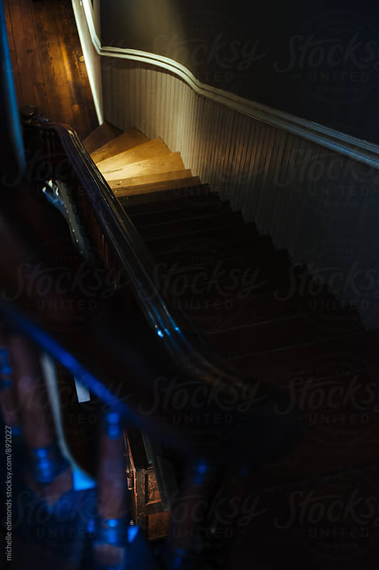 Dark Staircase by michelle edmonds for Stocksy United