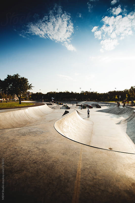 concrete skate park by MEM Studio for Stocksy United