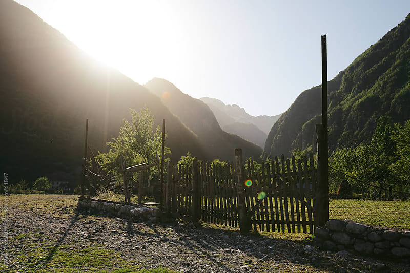 Hotel Fence in the mountaince by Freek Zonderland for Stocksy United