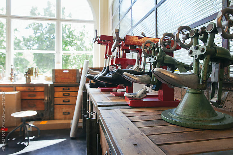 Bright Shoemaker Shop by VISUALSPECTRUM for Stocksy United