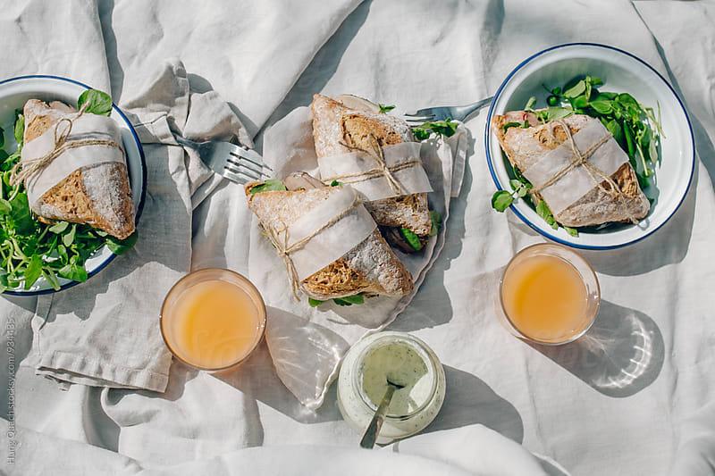 Picnic Sandwich Rolls by Hung Quach for Stocksy United