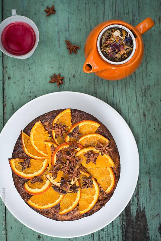 orange and almond cake by Gillian Vann for Stocksy United