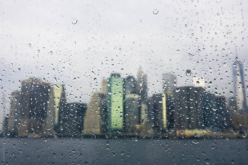 Manhattan Skyline during a Rainy Day by Good Vibrations Images for Stocksy United