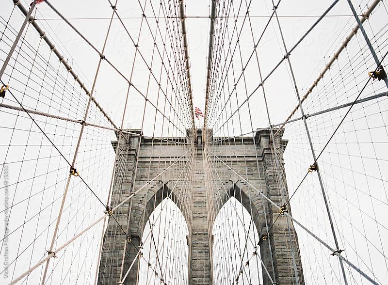 New York City Brooklyn Bridge  by Vicki Grafton Photography for Stocksy United