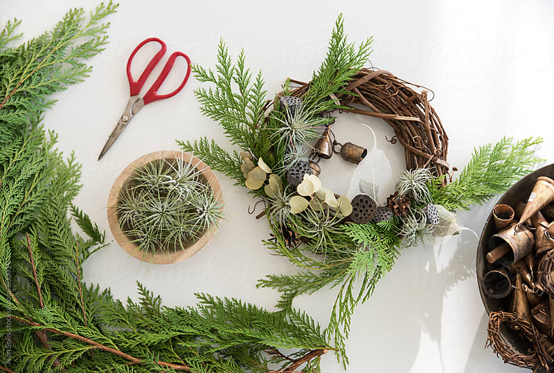 Homemade wreath by Ivan Solis for Stocksy United