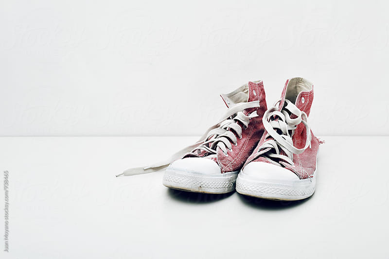 worn sneakers by juan moyano for Stocksy United