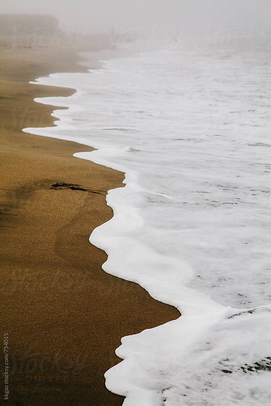 Waves of the pacific on Pescadero beach, San Francisco by kkgas for Stocksy United