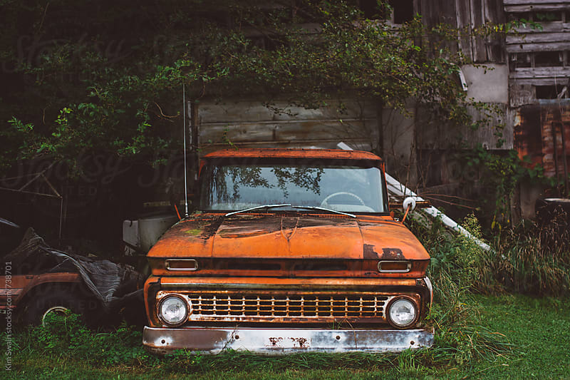 Old Truck and Barn by Kim Swain for Stocksy United