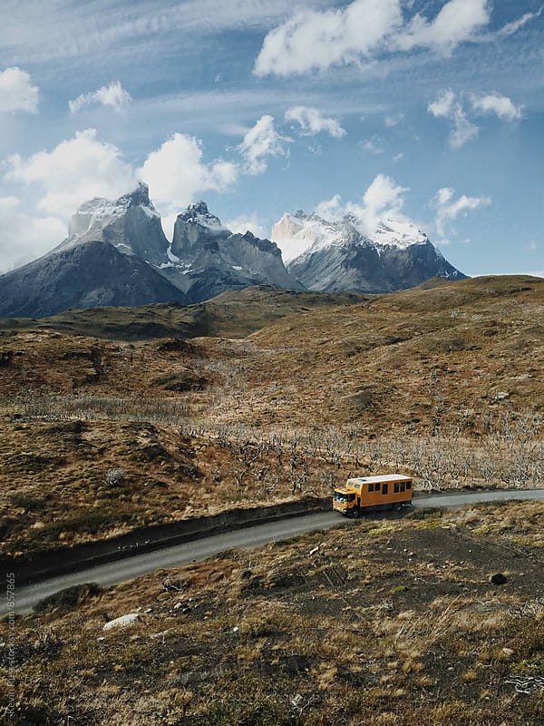 Bus Out in the Mountains by Kevin Russ for Stocksy United