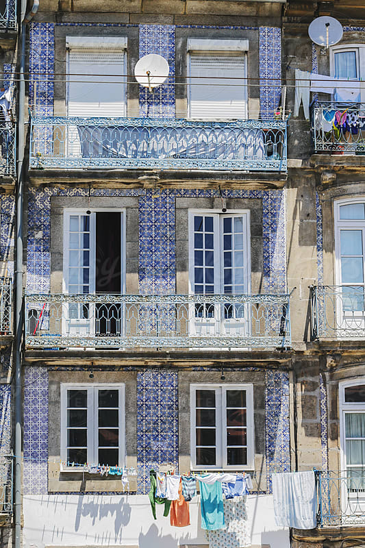 Traditional historic facade in Porto, Portugal by Luca Pierro for Stocksy United