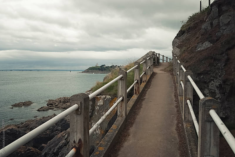 Promenade on the coastline by GIC for Stocksy United
