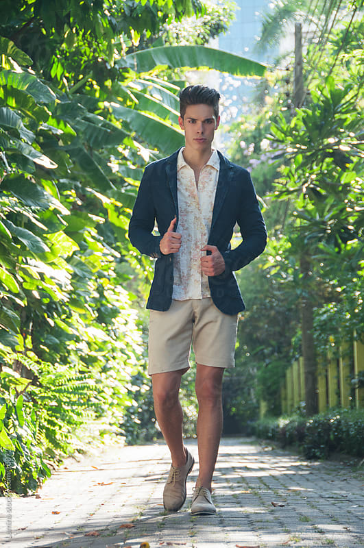 Young Caucasian Man Outdoors by Lumina for Stocksy United