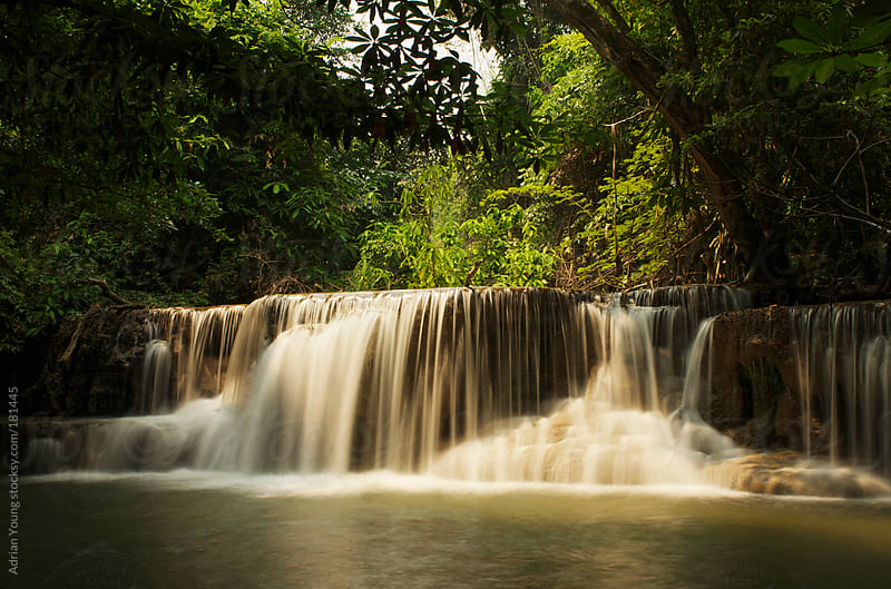 Huay Mae Khamin Waterfalls in Kanchanaburi, Thailand by Adrian Young for Stocksy United